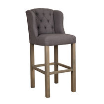 Traditional bar chair / upholstered / fabric