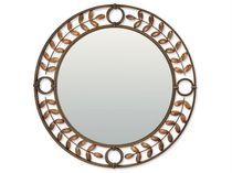 Wall-mounted mirror / traditional / round / metal