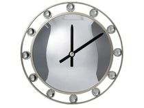 Contemporary clock / analog / wall-mounted / stainless steel