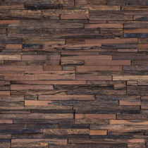 Wood decorative panel / wall-mounted / textured