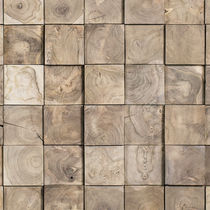 Wood decorative panel / wall-mounted / 3D