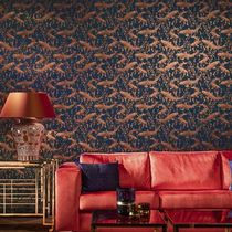 Contemporary wallpaper / metal / animal motif / non-woven