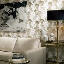 Contemporary wallpaper / metal / patterned / non-woven