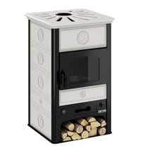 Wood boiler stove / traditional / steel