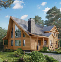 Prefab house / log / traditional / timber frame house