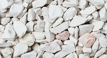 Marble gravel / for exterior fittings / crushed