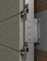 Aluminum fastening system / for facade claddings / for ventilated facades / exterior