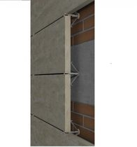Metal fastening system / stainless steel / for facade claddings / for ventilated facades