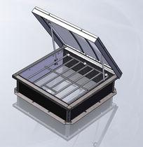 Aluminum smoke vent / smoke and heat extractor
