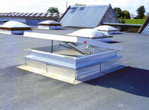 Flat roof skylight / smoke control