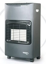 Gas radiator / vertical / metal / free-standing