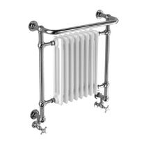 Electric towel radiator / brass / chrome / traditional
