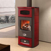 Wood boiler stove / contemporary / steel / cast iron