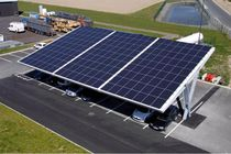 Metal carport / commercial / with integrated photovoltaic panel