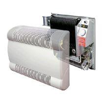 Gas convector / metal / contemporary / with ventilator