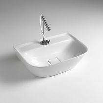 Countertop washbasin / rectangular / ceramic / contemporary