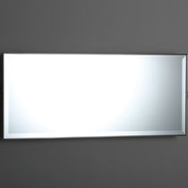 Wall-mounted bathroom mirror / tilting / classic / rectangular