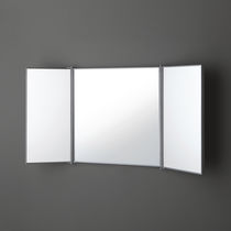 Wall-mounted bathroom mirror / classic / rectangular / for hotels
