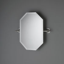 Wall-mounted bathroom mirror / tilting / classic / for hotels