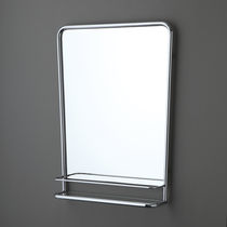 Wall-mounted bathroom mirror / with shelf / classic / for hotel rooms