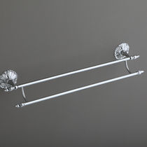 2-bar towel rack / wall-mounted / chrome-plated brass