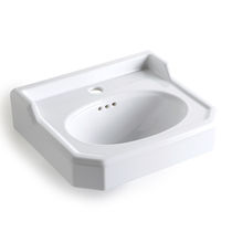 Wall-mounted washbasin / rectangular / ceramic / traditional
