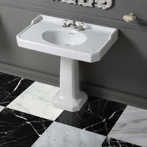 Free-standing washbasin / rectangular / ceramic / traditional