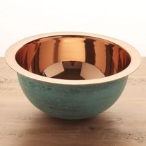 Countertop washbasin / round / copper / contemporary