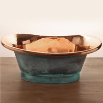 Countertop washbasin / oval / copper / contemporary