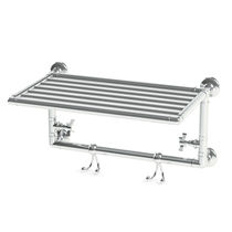Electric towel radiator / metal / traditional / horizontal