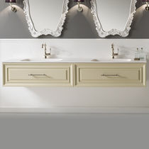 Wall-hung washbasin cabinet / MDF / ceramic / contemporary
