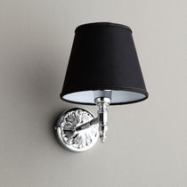 Traditional wall light / fabric / chromed metal / incandescent