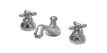 Double-handle washbasin mixer tap / free-standing / brass / bathroom