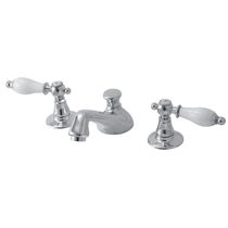 Double-handle washbasin mixer tap / free-standing / brass / bathroom