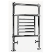 Hot water towel radiator / metal / traditional / horizontal