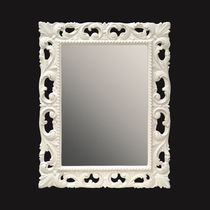 Wall-mounted bathroom mirror / classic / rectangular