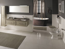 MDF washbasin cabinet / contemporary / with mirror