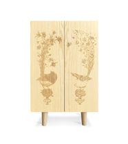 Commercial bar cabinet / contemporary / ash / custom