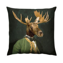 Square cushion / animal motif / cotton
