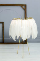 Table lamp / contemporary / feather / steel