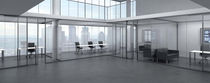 Removable partition / glazed / for offices / professional
