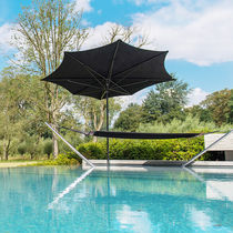 Commercial patio umbrella / aluminum / fabric / swiveling