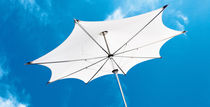 Commercial patio umbrella / fabric / stainless steel / aluminum