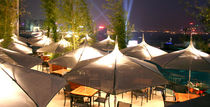 Commercial patio umbrella / fabric / aluminum