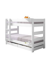 Single bed / bunk / contemporary / wooden
