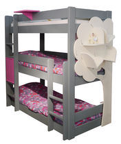 Single bed / triple bunk / contemporary / wooden