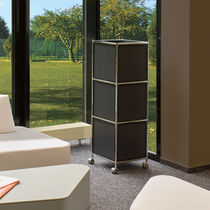 Tall filing cabinet / metal / modular / on casters