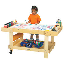 Contemporary drafting table / plywood / rectangular / for schools
