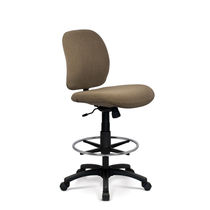 Leather office stool / fabric / adjustable / swivel