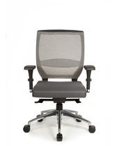 Contemporary office chair / adjustable / swivel / upholstered